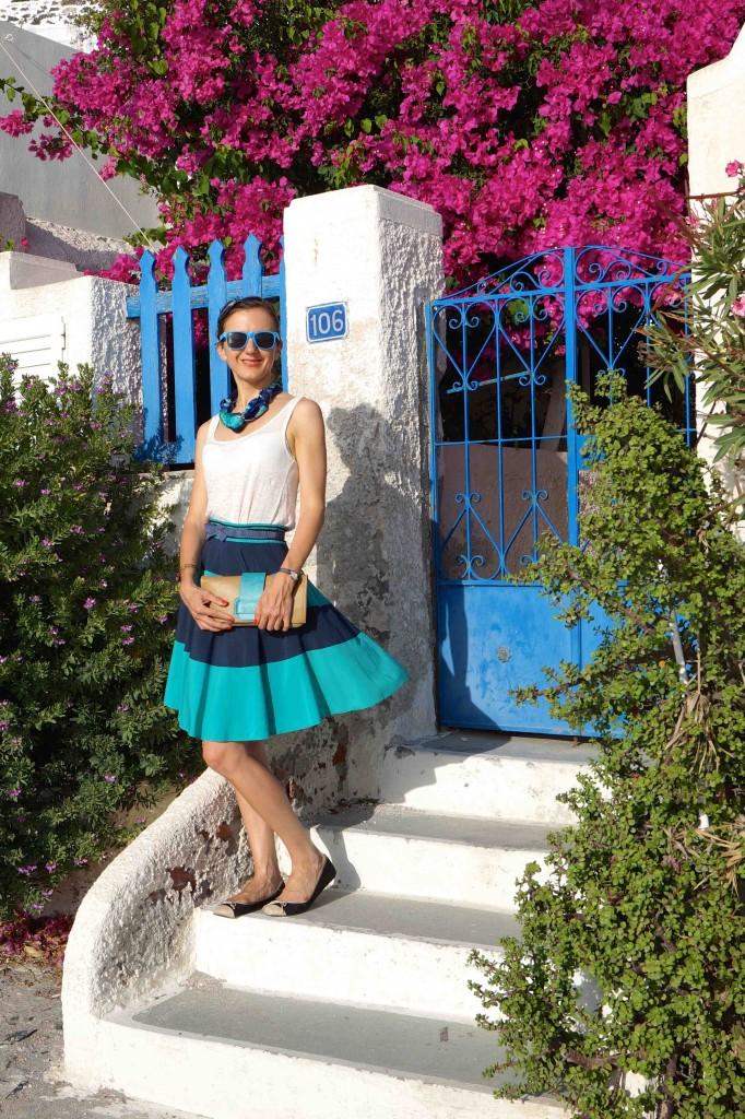 Enjoying the Santorini beauty